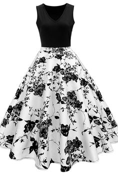 Floral Swing Dress – Retro Stage - Chic Vintage Dresses and Accessories Dress Outfits, Casual Dresses, Fashion Outfits, Cheap Fashion, Fashion Site, Trendy Fashion, Fashion Online, Men Fashion, Fashion Brands