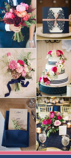 dark blue and pink wedding color ideas for 2017 – Hochzeitsdeko. Navy Pink Weddings, Pink Wedding Colors, Wedding Color Schemes, Blue Wedding, Wedding Table, Wedding Flowers, Dream Wedding, August Wedding Colors, Trendy Wedding