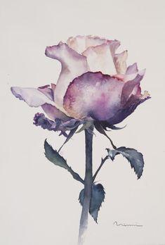 Watercolor Flowers, Watercolor Paintings, A Thousand Kisses Deep, Deep Paintings, Anime Comics, Aesthetic Art, Art Sketches, New Art, Art Girl