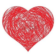 motif coeur: dessinés à la main illustration rouge vecteur coeur, pour la conception Illustration