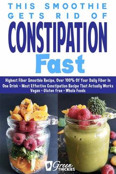 How to get rid of constipation? This green smoothie drink recipe for constipatio. - How to get rid of constipation? This green smoothie drink recipe for constipation works like magic. High Fiber Smoothie Recipe, Green Smoothie Recipes, Smoothie Drinks, Detox Drinks, Smoothie Diet, Green Detox Smoothie, Healthy Green Smoothies, Fruit Smoothies, Protein Smoothies