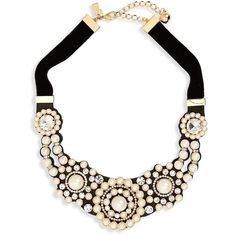 Women's Kate Spade New York Luminous Small Statement Necklace (£105) ❤ liked on Polyvore featuring jewelry, necklaces, cream multi, bib necklaces, velvet necklace, velvet jewelry, kate spade jewelry and kate spade necklace