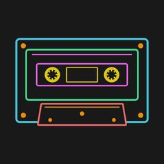 Shop Retro Neon Sign Vintage Cassette retro cassette tape t-shirts designed by Monolyn as well as other retro cassette tape merchandise at TeePublic. 90s Design, Neon Design, Retro Design, Logo Design, Retro Party, Neon Party, Neon Aesthetic, Aesthetic Design, Vintage Signs