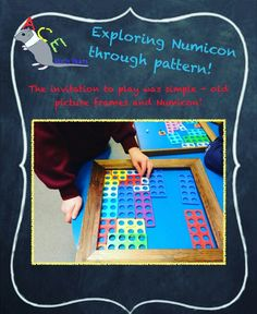 Possibly the easiest Numicon activity we have set up - all you need are some old picture frames! #eyfs #earlyyears #earlyyearsmaths #numicon #aceearlyyears