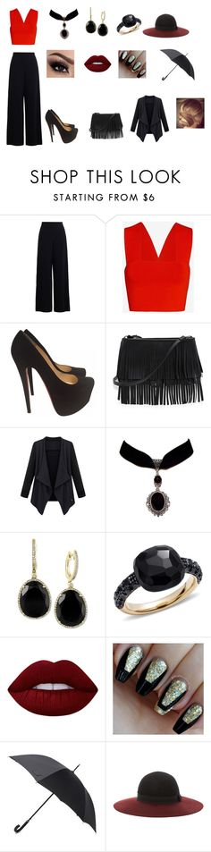 """""""manager in hospital look"""" by sarah4ever123 ❤ liked on Polyvore featuring A.L.C., Christian Louboutin, White House Black Market, Effy Jewelry, Pomellato, Lime Crime, Hunter and Eugenia Kim"""