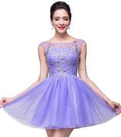 $73.45-Lovely Crystal Sleeveless Short Tulle Beaded Lilac Homecoming Dress 2016. http://www.doriswedding.com/lovely-crystal-sleeveless-short-homecoming-dress-tulle-p324745.html. DorisWedding has all the homecoming dresses you need to look glamorous for your back to school. Amazing collection of all styles short dresses for #homecoming. Find the best homecoming dress for under $100! #DorisWedding.com