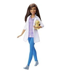 This Barbie Careers Veterinarian Doll by Barbie is perfect! #zulilyfinds
