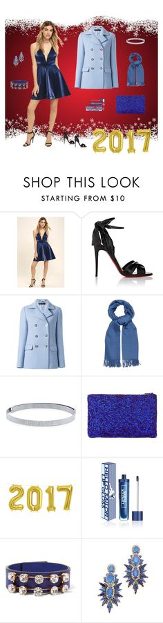 """Blue for New Years"" by boy4fashion ❤ liked on Polyvore featuring LULUS, Christian Louboutin, Versace, MaxMara, BERRICLE, John Lewis, Lipstick Queen, Marni and Elizabeth Cole"