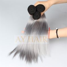 1b grey 2tone ombre color silky straight style (4)