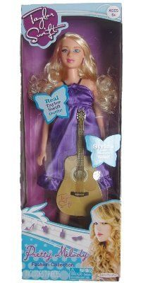 Taylor Swift Pretty Melody Fashion Collection Doll With Purple Dress by Jakks. $62.00. Taylor Swift Fashion Doll. Doll comes with purple dress inspired by a real Taylor outfit