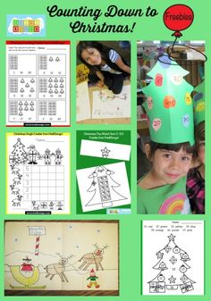 Counting Down to Christmas!  Lots of freebies for math and art on this blog post!