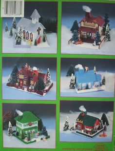 Plastic Canvas Pattern Books | The Christmas Village Plastic Canvas Pattern Book 6 Buildings Adorable ...