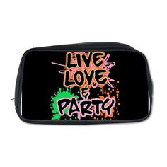 Artsmith, Inc. Toiletry Travel Bag Live Love and Party (80s Decor) Artsmith Inc. $57.97