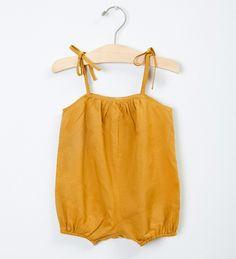 Tie Romper Short - Gold