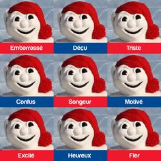 Les nombreuses faces de Bonhomme High School French, French Class, French Lessons, French Expressions, French Teacher, Teaching French, Teaching Tools, Teacher Resources, Teaching Ideas