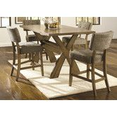 Found it at Wayfair - Dustin 5 Piece Counter Height Dining Set