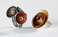 "Click to enlarge image. Brooke Battles: ""Urban Garden"" Rings"