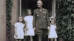 Erwin Rommel's tea party with Magda Goebbels and her gorgeous children.