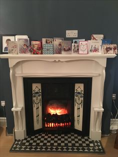 My electric Victorian restored fireplace