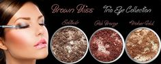 3 Piece BROWN BLISS Trio Eye Set Loose Powder Mineral Shimmer Multi Use Eyes Face Color Makeup Bare Earth Pigment Minerals Make Up Cosmetics By M*A*D Minerals Cruelty Free - 10 Gram Sized Sifter Jar. ♥ Made with Love In USA ♥ 3 Piece Trio Eye Collection Includes the following mineral colors: Solitude (Deep Brown Shimmer), Oak Bronze (Copper Brown Shimmer) & Amber Gold (Amber Brown Shimmer). Ingredients: ► mica ► iron oxides ► titanium dioxide ► May Also Contain: Zinc Oxide, Ferric...