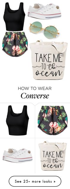 """beachin"" by s-gorman on Polyvore featuring Converse, BeachPlease and vacayoutfit"