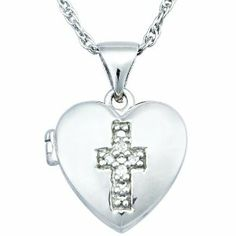 Sterling Silver Diamond Pendant Necklace (0.05 cttw, I-J Color, I2-I3 Clarity) Amazon Curated Collection. $39.00. Hold something precious with this dainty heart locket. Made in China. Sterling silver is polished to a shine. Save 29%!