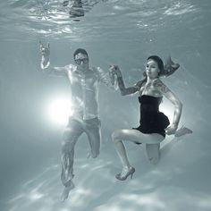 Unterwasser Fotografie, Unterwasser Fotoshooting, tanzendes Paar