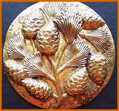 ENGLISH ART NOUVEAU COPPER FRAMED WALL MIRROR, CIRCA 1910 the ...