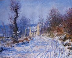 Claude Monet, Road to Giverny in Winter, 1885