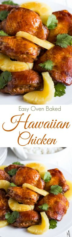 A simply gorgeous, sticky, tasty, Baked Hawaiian Style Chicken Thighs recipes that will leave you begging for more! | gluten free | dairy free |