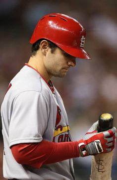 PHOENIX, AZ - APRIL 01: Pete Kozma #38 of the St. Louis Cardinals warms up on deck during the MLB Opening Day game against the Arizona Diamondbacks at Chase Field on April 1, 2013 in Phoenix, Arizona. (Photo by Christian Petersen/Getty Images)