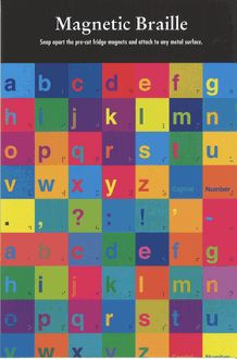Magnetic Braille Letters $11.50