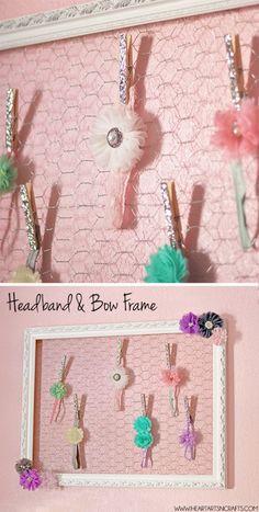 DIY Headband and Bow Holder Frame