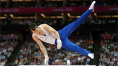 Cyril Tommasone of France competes in the Artistic Gymnastics Men's Pommel Horse Final