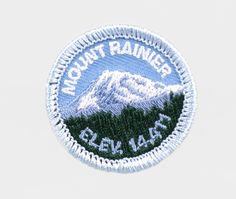 Mount Rainier patch, $3.95