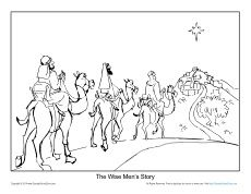 Free Printable Christmas Coloring Page About The Wise Men For Church Sunday School Home Or Visit All Your Bible Activities