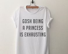 Gosh being a princess is exhausting Tank Top with by CozyGal                                                                                                                                                     More