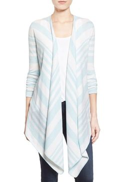 Barbour 'Harewood' Stripe Cotton & Merino Drape Front Cardigan available at #Nordstrom