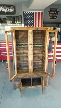 Gun Cabinet Made From Pallets Could Use Chicken Wire On