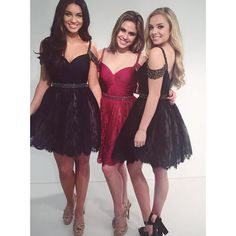 Lace black homecoming dress with beaded belt, sexy, low-back red homecoming dress, unique neckline homecoming dress, #020102523