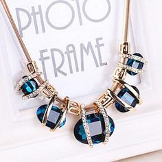 Crystal Women Pendant Chain Choker Chunky Statement Bib Necklace BUDeep  discounts on over 300 products that enhance your life from day to day! 7f4495d6c19a