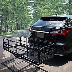 New 400 Lbs Heavy Duty Hitch Mount Cargo Carrier 60 x 24 x Folding Cargo Rack Rear Luggage Basket Fits 2 Receiver Car SUV Camping Traveling online shopping - Lovechicclothing Suv Camping, Camping Hacks, Heavy Duty Scissors, Trailer Hitch Accessories, Auto Accessories, Best Trailers, Cargo Rack, Car Trailer, Luggage Rack
