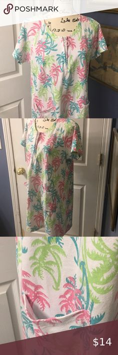 Palm Grove: Adorable bathing suit cover up Come out of the water and put this cute cover up on. Cozy cotton blend. Or wear it over a pair of shorts and your ready to go Palm Grove Tops Bathing Suit Covers, Bathing Suits, Online Thrift Store, Ready To Go, Thrifting, Palm, Cover Up, Cozy, Shorts