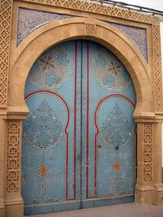 Amazing doors in Essouiara, Morocco ~