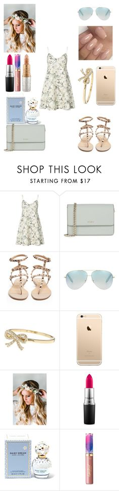 """""""Untitled #240"""" by alexponson ❤ liked on Polyvore featuring Zimmermann, DKNY, Valentino, Victoria Beckham, Bony Levy, Emily Rose Flower Crowns, MAC Cosmetics, Marc Jacobs, tarte and Mariah Carey"""