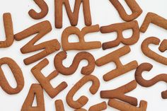 Gingerbread letters.