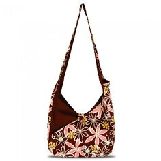 """Fabulous vegan handbag designer online boutique.  This is """"Lily in Brown & Pink.""""  Cute and quirky weekend bag."""