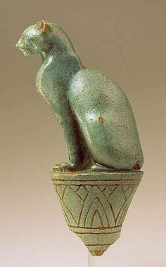 Egypt - 304-30 B.C. Cat on Papyrus (George Ortiz Collection, glazed terracotta)   Flickr - Photo Sharing!