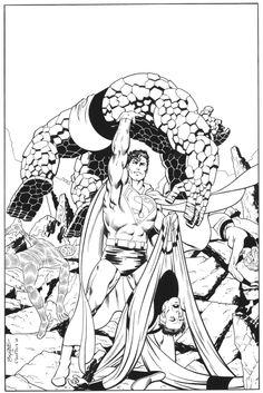 Superman & Fantastic Four by John Byrne