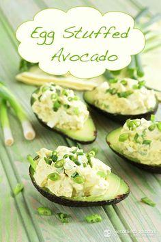 Egg Stuffed Avocado (keto, vegetarian, low-carb, paleo)